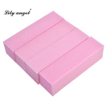 Lily angel 4pcs High Quality Pro Nail Buffer File Pink Sponge Sandpaper Emery Block Polishing Grinding Manicure Pedicure Sets