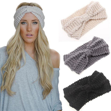 hot sale winter knit headband for women girl headwear good quality girls head band crochet hairband warm head wrap 9 colors