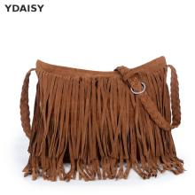 Autumn Winter Full Suede Fringe Tassel handbag Women Sling Shoulder Crossbody Messenger bag Hand bag Shopping office X391