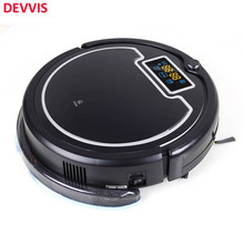 (Russia Warehouse) Robot Vacuum Cleaner with Water Tank,Touch Screen,,Schedule,Sel fCharge,UV Lamp,Remote Control(China)