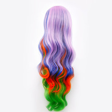 6 styles Long curls Hair Colorful Color Clip Claw Women's Ponytail Weaving tools Curls Hair Extension 80cm(China)