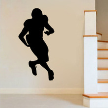 ZOOYOO American Football Player Wall Decal Sticker Sports Home Decor Removable Living Room Bedroom Decoration Murals(China)