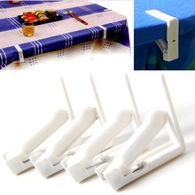 Creative Plastic 4Pcs Table Cover Cloth Stainless Steel Tablecloth Clip Clamp Holder Party Wedding