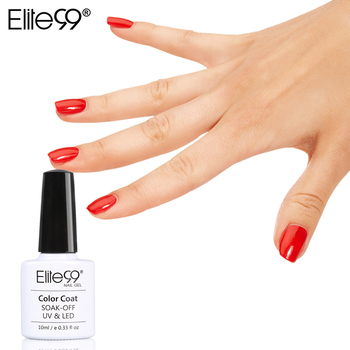Elite99 Nouveau Style 1 pcs Coloré Soak Off Nail Gel Polish 10 ml Longue durable Gel UV Pour Nail Art Beauté 12 Rouge Couleurs Pour Le Choix