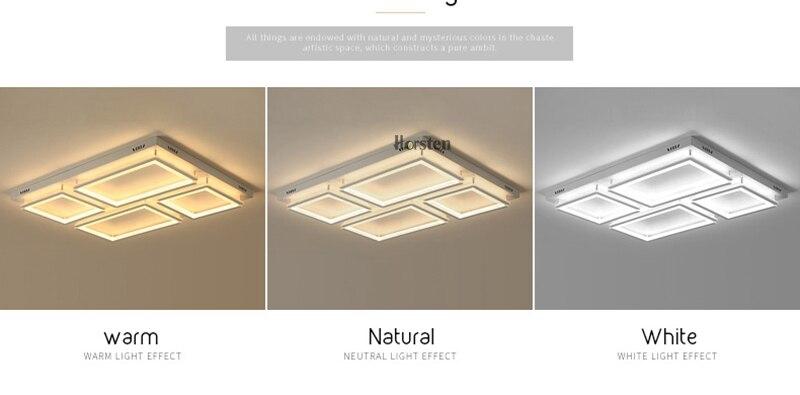 Modern Led Ceiling Light For Living Room Bedroom Kitchen Dimmer Simple LED Ceiling Lamp Home Lighting (3)