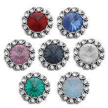 Buy 10pcs/lot 7 Colors Mixed 18MM Snap Button Jewelry Crystal Flower Snap Buttons Fit 18mm Snap Bracelet Bangle Women Accessory for $4.88 in AliExpress store