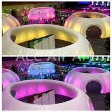 promotion product piazza inflatable office tent for party,event with beautiful lighting