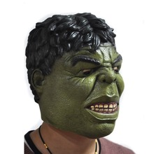 2017 Green Hulk Mask Men's Silicone Face Mask Movie Cosplay Props Fancy Dress for Halloween Mask