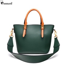 FUNMARDI New Fashion Women Composite Bags Simple Casual Shoulder Bags Luxury Leather Cross Body Bags Famous Brand Totes WLAM0149(China)
