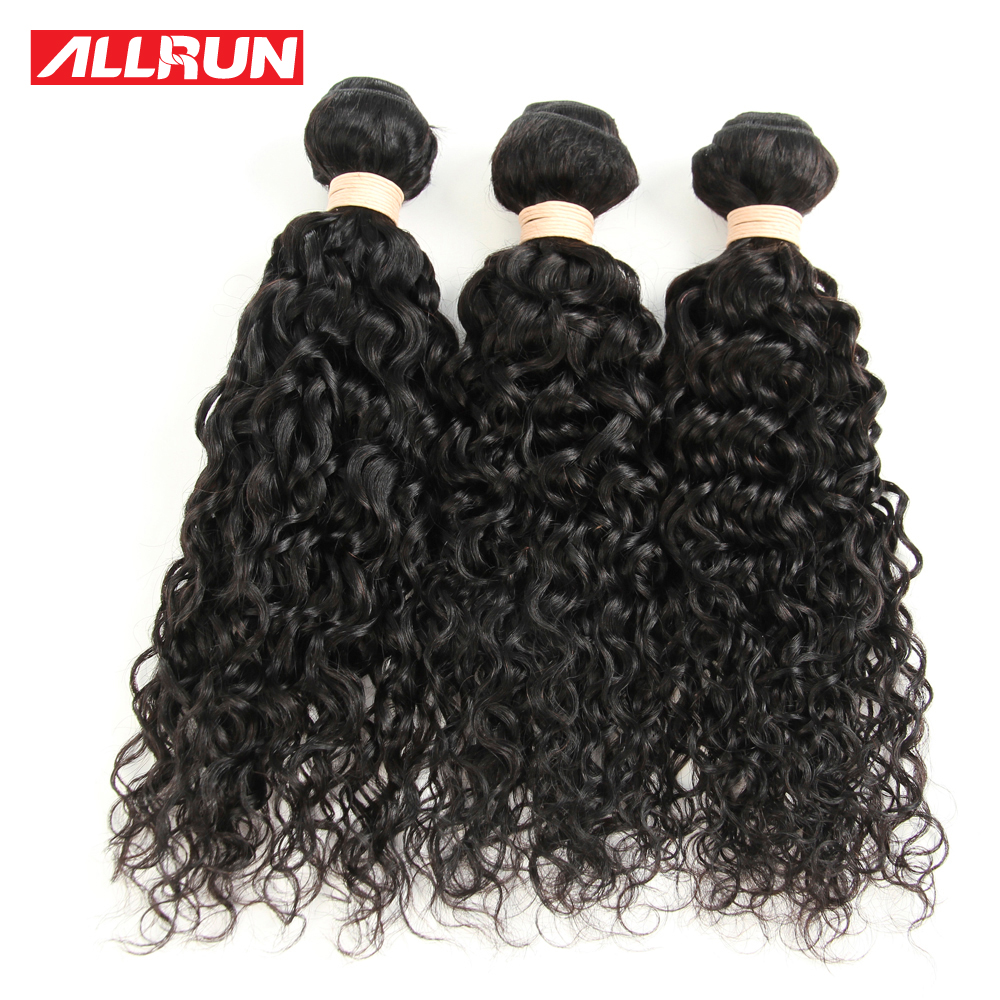 Brazilian Virgin Hair 3 Bundles Water Wave Virgin Hair 8A Grade Virgin Unprocessed Human Hair Allrun Human Hair Weave<br><br>Aliexpress