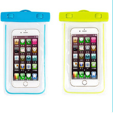 New Arrival PVC Luminous Waterproof Phone Case Cover For Iphone Water Proof Underwater Bag for iPhone6 All mobile Phone