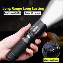 SHENYU LED Flashlight 18650 26650 Zoom Torch Waterproof Flashlight T6 L2 1000 lumen 3Mode Zoomable Light For Lithium ion Battery(China)