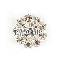 50pcs/lot Crystal Rhinestone Buttons For Hair Wedding Party Supply Flower Embellishment Jewelry Accessory Botoes 12mm Flatback