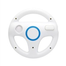 2016 High Quality Promotions Steering Wheel Mario Kart Racing Games Remote Controller For Nintendo Wii White high quality