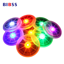 Outdoor Night LED Electric Flashing Frisbee Round Luminous Waterproof Interactive Toys Pet Dog Cat Training Toy for the dog(China)