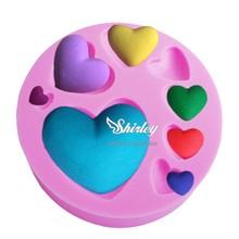 M174 Hot FDA Different size Heart Love shape Silicone 3D Mold Cookware Dining Bar Non-Stick Cake Decorating fondant soap mold