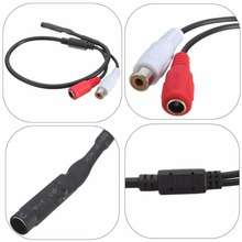 New 2017 arrival Sensitive Audio Pickup Mic Microphone Cable For CCTV Security Monitor DVR Camera(China)