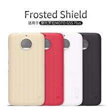 Original Nillkin Super Frosted Shield Hard Back PC Cover Case For Motorola MOTO G5S Plus Phone Case + Screen Protector