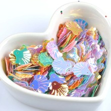 23g(about 300pcs) Mixed Shell Spangle Sequins Paillette Sewing For DIY Garment Accessories Decorations 14x15mm CP1873(China)