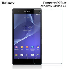 Bainov For Sony Xperia T3 Screen Protector 9H Explosion-proof Tempered Glass Safety Protective Film On Hspa D5102 D5103 D5106