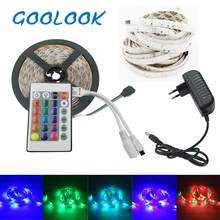LED Strip Light RGB Strip 2835 SMD LED llight Tape emitting diode 3528 Led Lamp Ribbon DC12V Led Flexible RGB Light Full Set