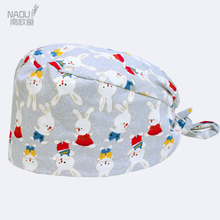 Hospital dental clinic Pediatrician pure cotton surgical cap cute rabbit pattern medical cap for both men and women(China)