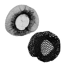 Women Ballet Dance Skating Snoods Hair Net Bun Cover Black 2 Pcs