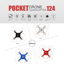 Original 124 Micro Pocket Drone 4CH 6Axis Gyro Switchable Controller Mini Quadcopter RTF RC Helicopter Kids Toys