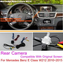 Lyudmila Mercedes Benz E Class W212 2010~2016 RCA & Original Screen Compatible / Car Rear View Camera Back Reverse Camera