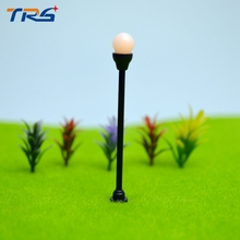 Teraysun Model Garden Lamp Lamppost N Scale  Single Head Model Lights with Wires and Bulbs for Landscape