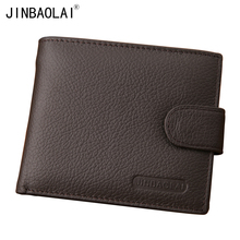 New Arrival Genuine Leather Wallet Men Famous Brand Mens Wallet with Coin Pocket Carteira Masculina Couro(China)