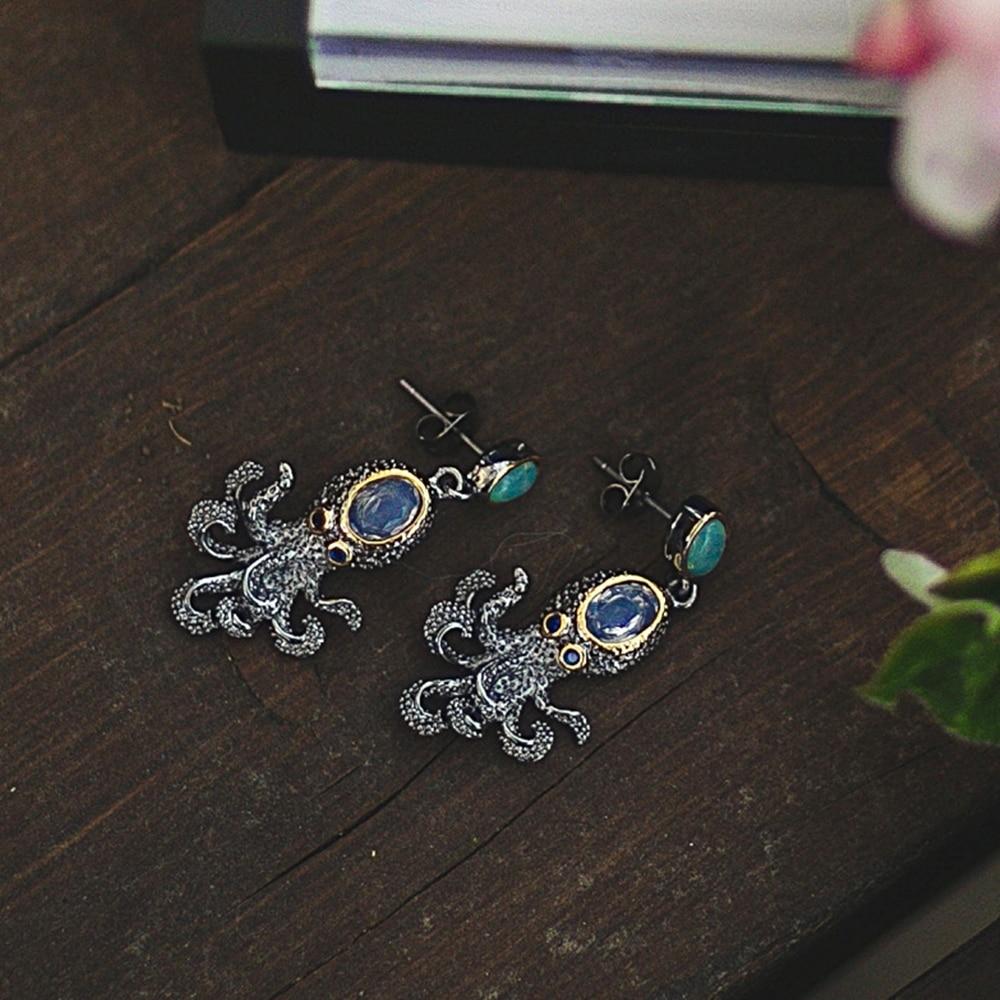 WE3875 octopus earrings women vintage gothic jewelry (9)