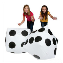 2pcs Jumbo Inflatable Dice Children's Black And White Large Outdoor Activities 30*35cm(China)