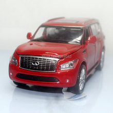 Brand New YJ 1/32 Scale Car Toys Infiniti QX56 SUV Diecast Metal Flashing Musical Pull Back Car Model Toy For Gift/Kids