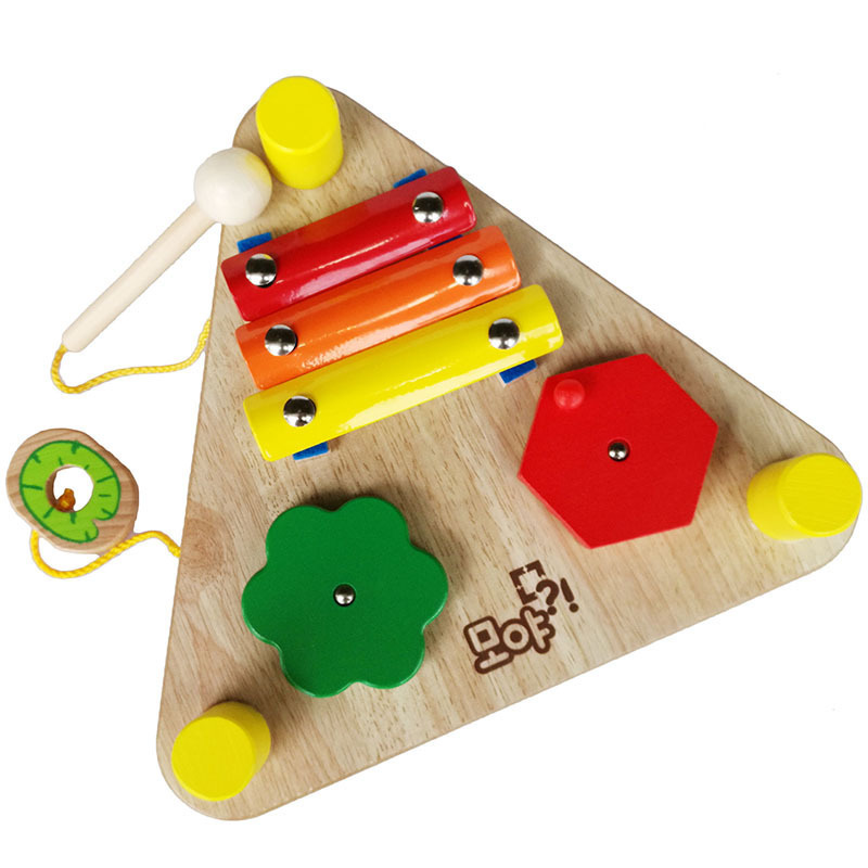 Kids Soft Montessori Wooden musical instruments Toy Set Two sides Xylophone For Infant playing type high quality gift <br><br>Aliexpress