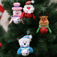 Christmas Decoration Pendants Xmas Tree Hanging Ornaments  Snowman Deer Bear Cute Doll Santa Claus For Home Party Decor KO898787