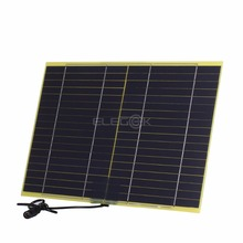 ELEGEEK 10W 18V Solar Panel Battery Charger for 12V Solar System 12V Battery with DC Output Crocodile Clip 318*210mm
