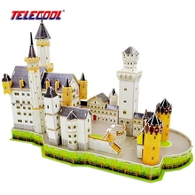 TELECOOL Deluxe Edition 3D jigsaw Puzzle Paper Model With London Bridges & Statue of Liberty Paper Miniature Model(China)