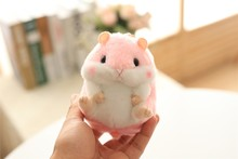 New Cute soft plush cartoon animal Pink/Blue small Hamster toy doll key chain,stuffed mouse toy,creative lover & birthday gift