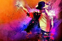 Category Music Male Michael Jackson Single musician color painting QR21 Room home wall modern art decor wood frame poster