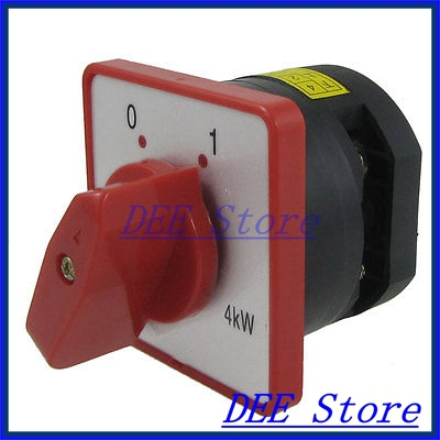 4KW 20A 0-1 on/off Position Rotary Combination Switch HZ5D-20/4. L01<br><br>Aliexpress