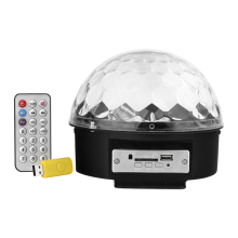 xtf2015 MP3 Crystal Magic 6 Colors Sound Actived Rotating Strobe Disco Stage RGB Remote Control For Party Show WTD-Y