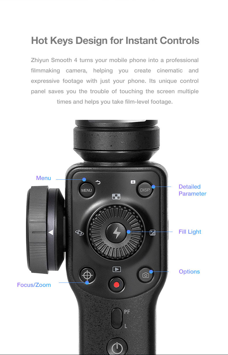 Zhi yun Smooth 4 3-Axis Handheld Video Stabilizer Bluetooth Gimbal
