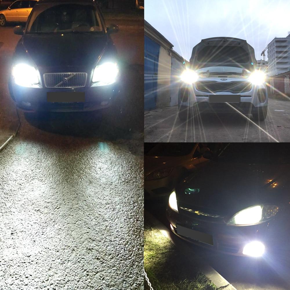 Hviero  Hiviero Super Bright COB IP65 Car Head lights 9005 HB3 Car LED 72W 7600lm Auto Front Bulb Automobile Headlamp 6500K Car Lightin