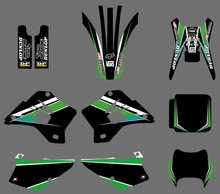 GRAPHICS & BACKGROUNDS DECAL STICKER Kit  for Kawasaki KDX200 KDX220 1995-2005 2006 2007  2008 2 strokes KDX 200 220