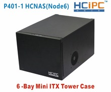 HCiPC P401-1 HCNAS(Node6) 6Bay Mini ITX Tower Case,6Bay NAD HDD Enclosure,6bay NAS Server,NAS CASE-Free Shipping