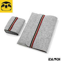 "Hot ESLOTH E8 Sleeve Notebook Carry Cases Cover Bag For Apple Macbook 12"" Pro 13.3'' 15.4"" / Air 9.7"" 11.6"" 13.3"" Laptop Bags"