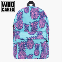 Pink Pineapple 3D Printing backpack women mochila 2017 Fashion Cares school bags teenage girls sac dos canvas - who cares Official Store store