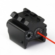 Tactical Air Soft Scopes Mini Pistol Red Dot Laser Adjustable Compact Sight Fit 20mm Rail Mount