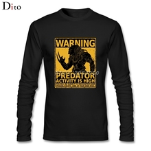 Game Movie Predator Men Boy's Undershirt T-shirt Design Long Sleeve Thanksgiving Day Custom Family T-shirts(China)